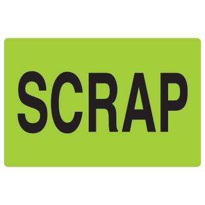 Fluorescent Warehouse & Pallet Labels - Scrap