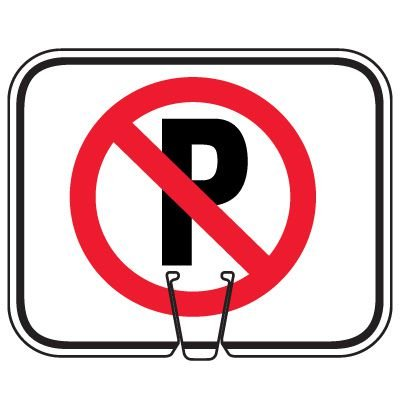 Traffic Cone Signs - No Parking Symbol
