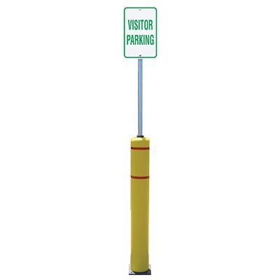 Flexible Bollard Sign Post Systems - Visitor Parking Sign