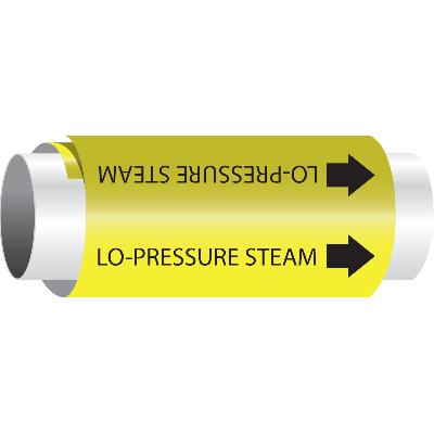 Setmark® Snap-Around Pipe Markers - Lo-Pressure Steam