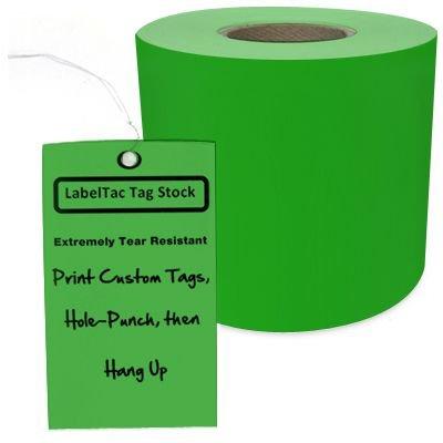 LabelTac® LT405TAG Tear-Resistant Tag Stock - Green