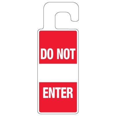 Door Knob Hangers - Do Not Enter With Sign