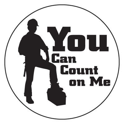 Safety Hard Hat Labels - You Can Count On Me