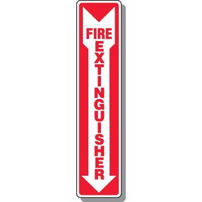 Slim-Line Fire Extinguisher Signs