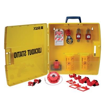 Ready Access Electrical Lockout Station with Safety Padlocks