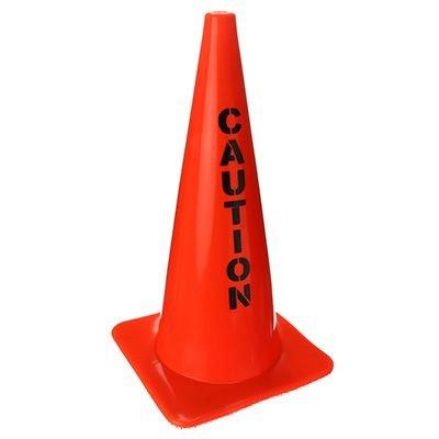 Warning Message Traffic Cones - Caution