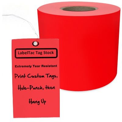 LabelTac® LT104TAG Tear-Resistant Tag Stock - Red