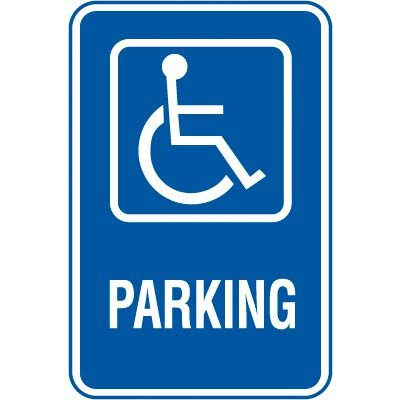 Symbol of Access Parking Signs - Parking (With Graphic)