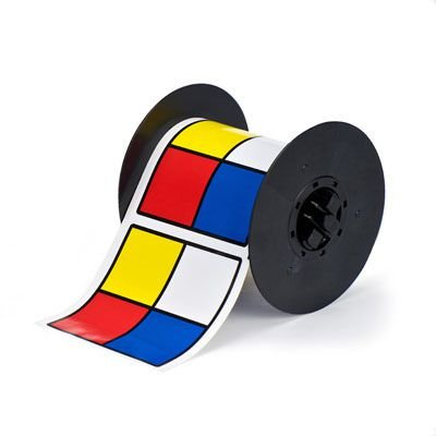 Brady B30-161-595-DIAM B30 Series Label - Blue/Red/Yellow on White