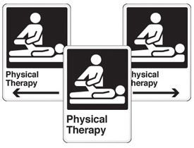 Health Care Facility Wayfinding Signs - Physical Therapy