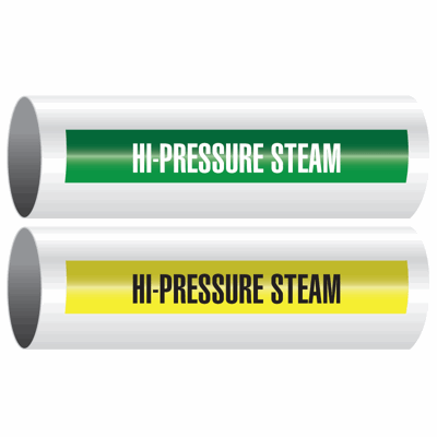 Opti-Code™ Self-Adhesive Pipe Markers - Hi-Pressure Steam