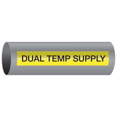 Xtreme-Code™ Self-Adhesive High Temperature Pipe Markers - Dual Temp Supply
