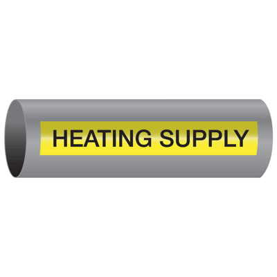 Xtreme-Code™ Self-Adhesive High Temperature Pipe Markers - Heating Supply