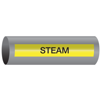 Xtreme-Code™ Self-Adhesive High Temperature Pipe Markers - Steam