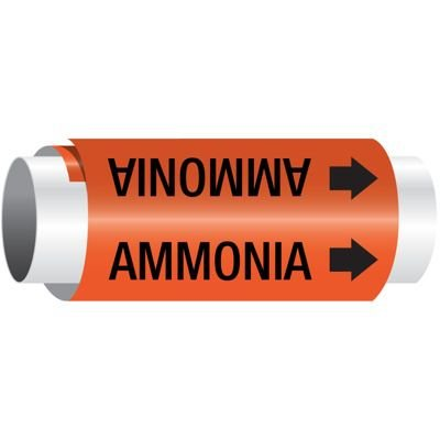 Setmark® Snap-Around Pipe Markers - Ammonia