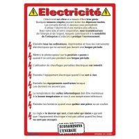 Affiche pour la protection de l'environnement sur l'électricité
