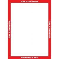 Affichage obligatoire à insert pour le plan d'évacuation