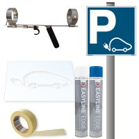 Kit pour place réservée aux voitures électriques - Panneau PVC