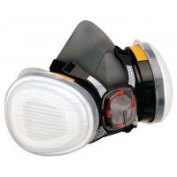 Demi-masque respiratoire FORCE 8 de protection respiratoire bi-filtre standard
