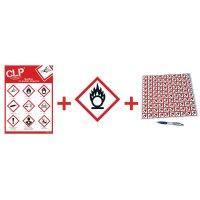 Kit autocollants CLP poster et panneau - GHS03