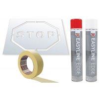 Prix Spécial - Kit pochoir et aérosol Easyline® symbole Stop