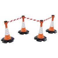 Kit Skipper™ 4 cônes de chantier + balises à sangle