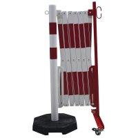 Barrière accordéon sur pied mobile pour entrepôt