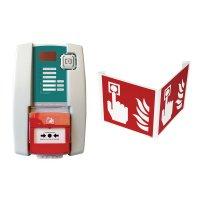 Kit centrale d'alarme type 4 filaire avec flash et signalisation 3D