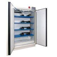 Armoire de sécurité pré-équipée pour le stockage de batteries lithium 90 minutes.