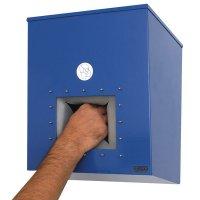 Distributeur en acier laqué pour masques respiratoires à coques