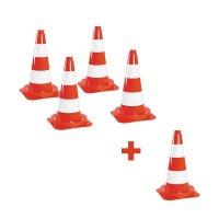 Lot de cônes de chantier non-réfléchissants