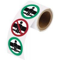 Rouleau autocollant - Ne pas s'asseoir ici et Asseyez-vous ici