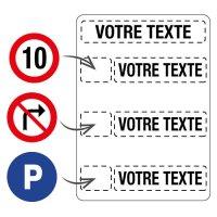 Panneau de parking à multiples messages personnalisable
