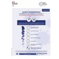 Affiche officielle Coronavirus - Comment se laver les mains?