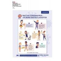 Affiche officielle Coronavirus pour les écoles - Les bons gestes à adopter