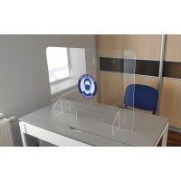 """Kit écran de protection en plexiglass + panneau """"Port du masque obligatoire"""""""