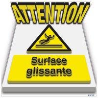 Marquage au sol 3D - ATTENTION Surface glissante