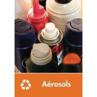 Signalétique recyclage - Aérosols