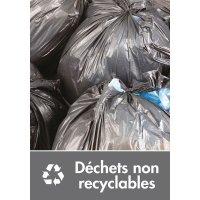Signalétique recyclage - Déchets non recyclables