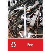 Signalétique recyclage - Fer