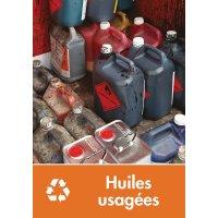 Signalétique recyclage - Huiles usagées
