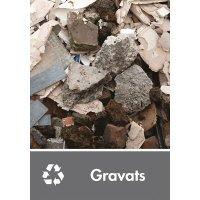 Signalétique recyclage - Gravats