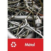 Signalétique recyclage - Métal