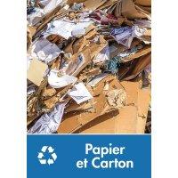 Signalétique recyclage - Papier et Carton