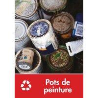 Signalétique recyclage - Pots de peinture