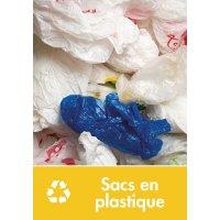 Signalétique recyclage - Sacs en plastique