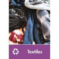 Signalétique recyclage - Textiles