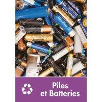 Signalétique recyclage - Piles et Batteries