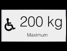 Plaques gravées 200kg max