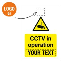 Custom CCTV Signs with Logo
